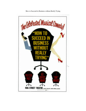 How to Succeed in Business Without Really Trying Vocal Score