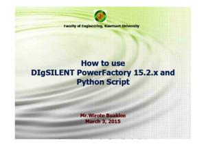 How to use DIgSILENT PowerFactory and Python