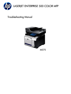 HP Ent 500 Color M575 Troubleshooting Manual TOC