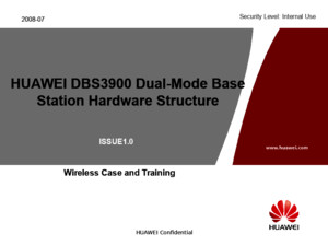 HUAWEI DBS3900 Dual-Mode Base Station Hardware Structure and Pinciple-20090223-IsSUE10-B