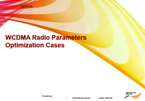 (Huawei) WCDMA Radio Parameters Optimization Cases