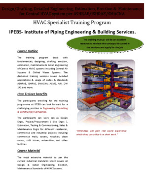HVAC Design & Drafting Per ASHRAE