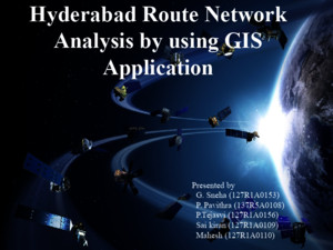 Hyderabad Route Network Analysis by Using GIS Application