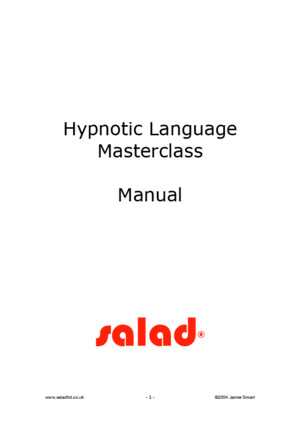 Hypnotic Language Masterclass Manual
