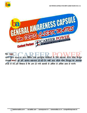 Ibps Clerk Mains Hindi Capsule 2015 16