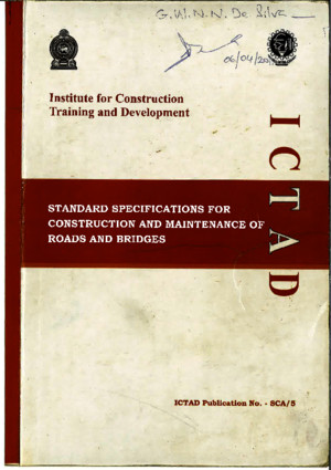 ICTAD Document of Roads and Bridges Construction and Maintenance