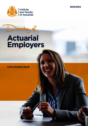Ifoa Directory Actuarial Employers 2014 2015