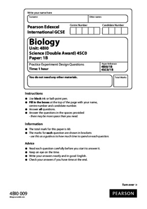 IGCSE Biology: Practice CORMS Questions