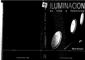Iluminacion en Cine TV Blain Brown