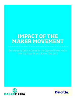 Impact of the Maker Movement