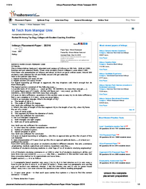 Infosys Placement Paper Whole Testpaper 35316