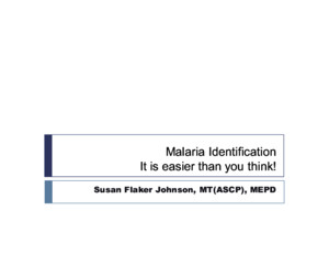 #4 Malaria Identification