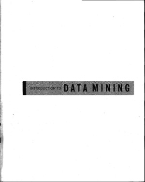 Introduction to data mining - Steinbachpdf