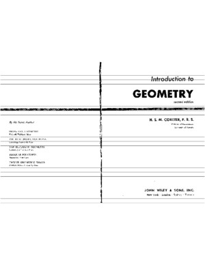 Introduction to Geometry (Coxeter)pdf