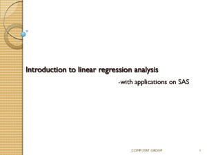 Introduction to linear regression analysis pdf