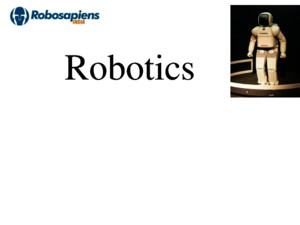 (INTRODUCTION TO ROBOTICS)ppt