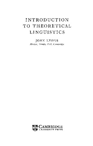 INTRODUCTION TO THEORETICAL LINGUISTICS - JOHN LYONSpdf