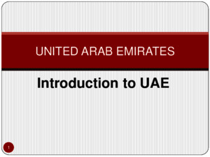 Introduction to UAEppt