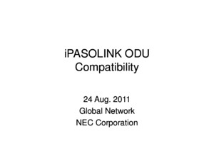 Ipaso Odu Compatibility