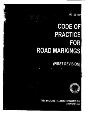 IRC-35-(Road markings Ist revision code of practices)pdf
