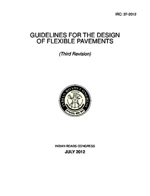 Irc 37 2001 Guidelines for the Design of Flexible Pavements 2nd Revision