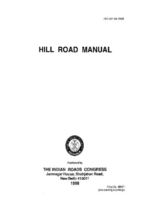 IRC SP 48 Hill Road Manual