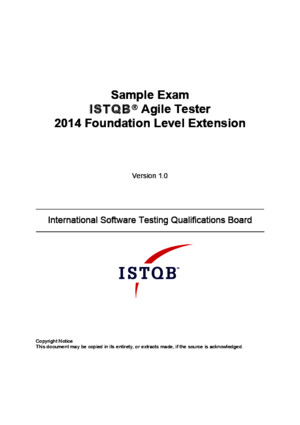 ISTQB Agile Tester Sample Exam v10