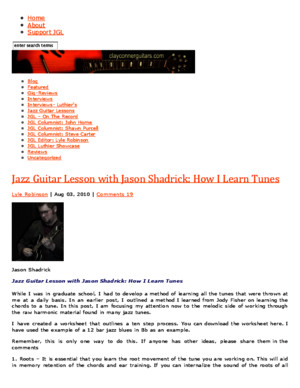 Jazz Guitar Lesson With Jason Shadrick: How I Learn Tunes : Jazz Guitar Lives at Jazz Guitar Life