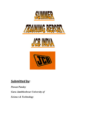 JCB Training Report