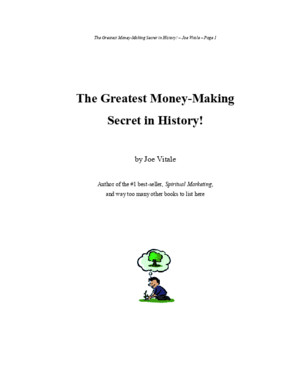 Joe Vitale-Greatest Money Making Secret in History