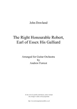 John dowland Earl of Essex