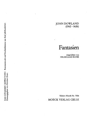 John Dowland - Fantasies Complete Edition Classical Guitar Jz