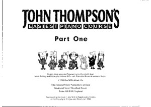 **John Thompson Easiest Piano Course Part 1a