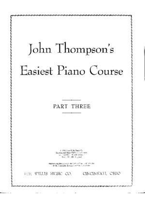 John Thompson-Easiest Piano Course (Part 3)