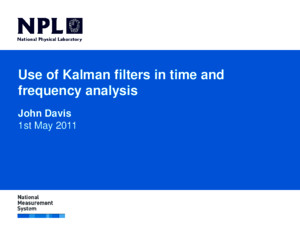 Kalman Filters in Time and e Frequency Analysis