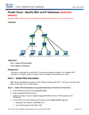 5144 Packet Tracer - Identify MAC and IP Addresses Instructions IG