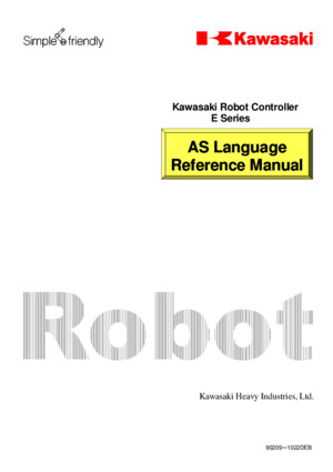 Kawasaki_AS Language Manual (E Series)