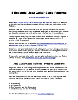 5 Essential Jazz Guitar Scale Patterns