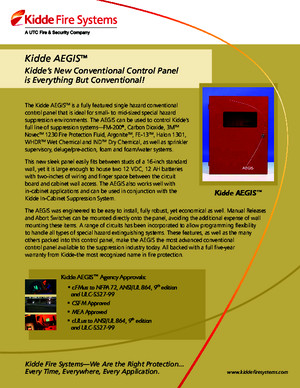 Kidde Aegis Conventional Fire Control Panel
