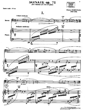 Koechlin Bassoon Sonata