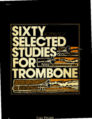 Kopprasch Sixty Selected Studies for Trombone Vlm1