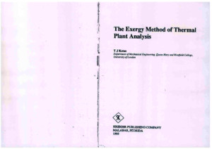 Kotas - The Exergy Method of Thermal Plant Analysis