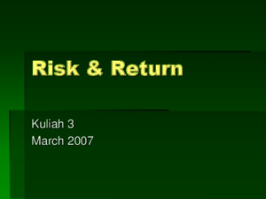 Kuliah 3 Risk and Returnppt