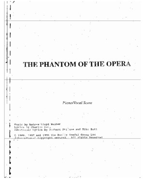 50983644 Book Phantom of the Opera Piano Vocal Full