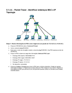 5144 Packet Tracer - Identify MAC and IP Addresses Instructions IG_Respostas