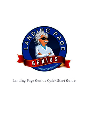 Landing Page Genius Quick Start Guide