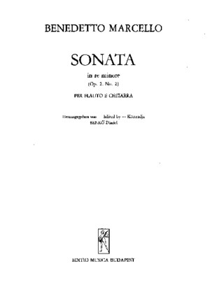 52151703 B Marcello Sonate Op 2 2 for Flute and Guitar