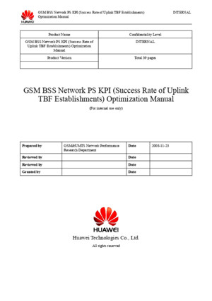 53 GSM BSS Network PS KPI (Uplink TBF Establishment Success Rate) Optimization Manual Mistero_H - Buscar Con Google