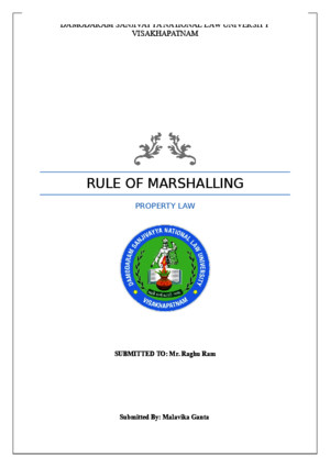 Law of Marshalling