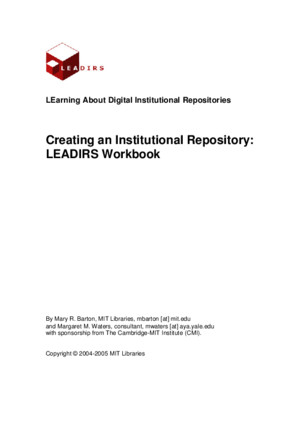 LEADIRS Creating an Institutional Repository
